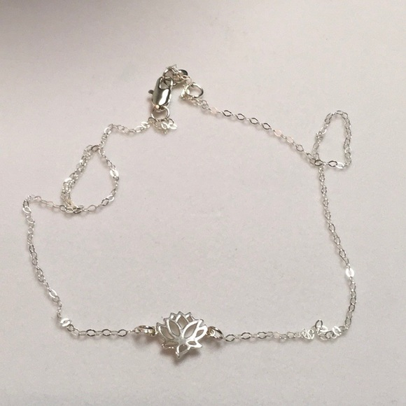 Jewelry Sterling Silver Lotus Flower Necklace Poshmark